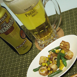 インゲン豆とちくわのマヨ炒め