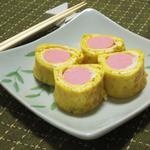 魚肉ソーセージの卵巻き