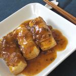 豆腐の豚肉巻き 麻婆仕立て