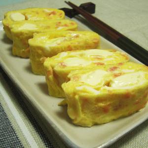 鮭とクリームチーズの玉子焼き
