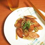 魚肉ソーセージのポン酢炒め